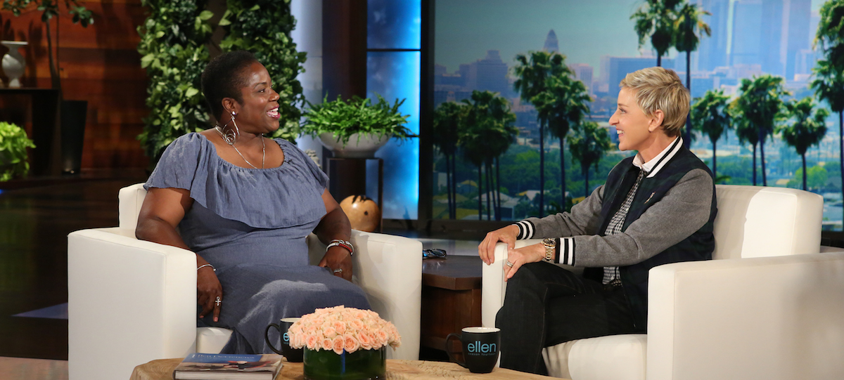 'Mama Shu' Harris of the Avalon Village meets Ellen DeGeneres on 9/13/16